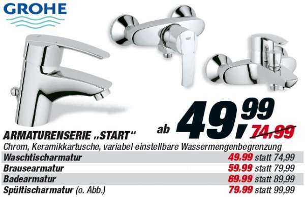 grohe start armaturen ab 43 99. Black Bedroom Furniture Sets. Home Design Ideas