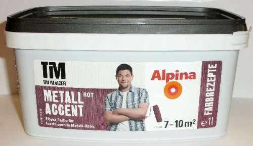alpina tim m lzer farbrezepte metall accent rot effekt wandfarbe offline bei hornbach. Black Bedroom Furniture Sets. Home Design Ideas