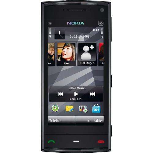 nokia x6 smartphone 8gb interner speicher touchscreen. Black Bedroom Furniture Sets. Home Design Ideas