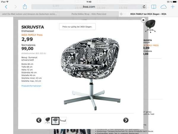offline ikea siegen sessel skruvsta bezug sunnaryd recht g nstig. Black Bedroom Furniture Sets. Home Design Ideas