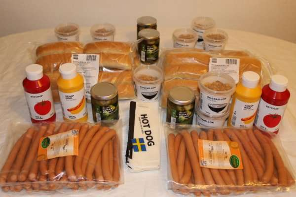hotdog party paket f r nur 10 00 lokal ikea mannheim. Black Bedroom Furniture Sets. Home Design Ideas