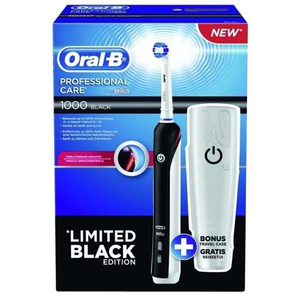m ller oral b professional care 1000 limited black edition angebot cash back 2 coupons. Black Bedroom Furniture Sets. Home Design Ideas