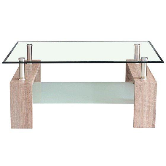 m max couchtisch antonio glasplatte sonoma eiche bei abholung im markt f r 34 90. Black Bedroom Furniture Sets. Home Design Ideas