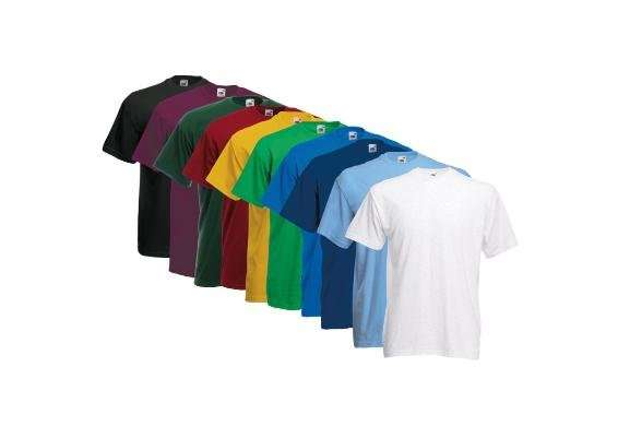 3ddd2ebabe8cf4 10er Pack Fruit of the Loom T-Shirts Valueweight für 19