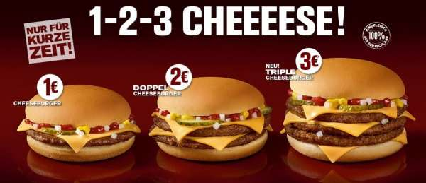 Single double und triple cheeseburger fr 1 bis 3 bei mcdonalds single double und triple cheeseburger fr 1 bis 3 bei mcdonalds mydealz thecheapjerseys Choice Image