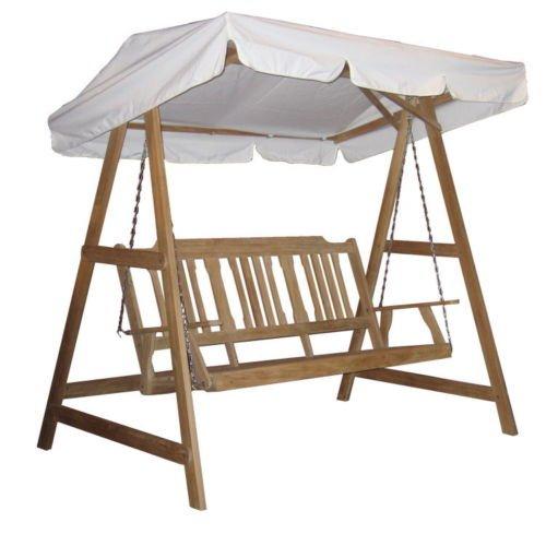 3 sitz landmann teakholz hollywoodschaukel 499 ebay. Black Bedroom Furniture Sets. Home Design Ideas