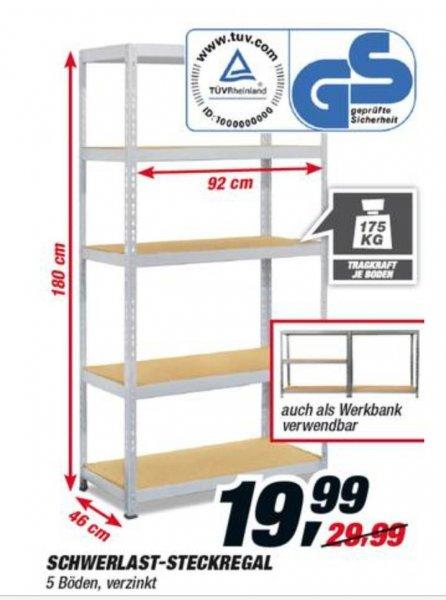 schwerlast steckregal bei toom baumarkt f r 19 99 vom bis. Black Bedroom Furniture Sets. Home Design Ideas
