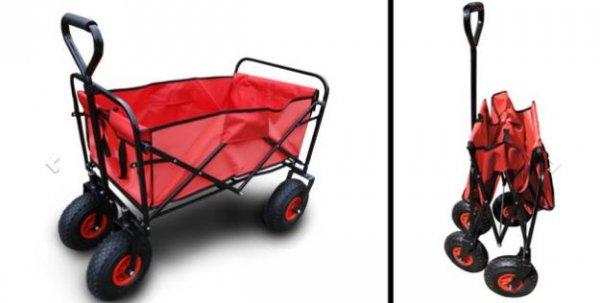 dailydeal faltbarer bollerwagen mit luftbereifung. Black Bedroom Furniture Sets. Home Design Ideas