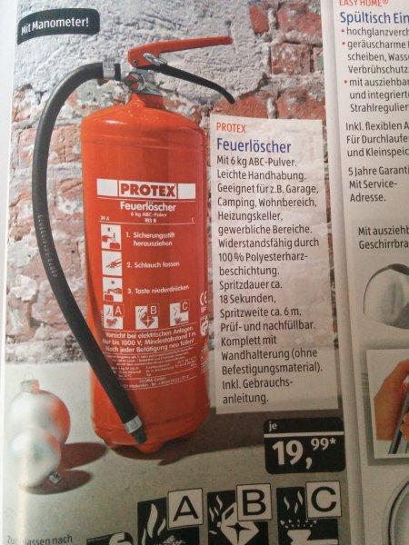 Hervorragend Aldi Süd) Protex Feuerlöscher 6kg ABC-Pulver für 19.99.- ab 04.12  BC29