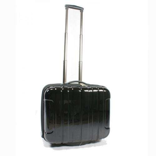 laptop trolley koffer mit rollen in schwarz. Black Bedroom Furniture Sets. Home Design Ideas