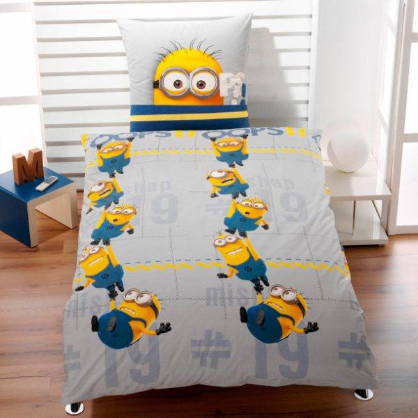 minions ich einfach unverbesserlich bettw sche f r 18. Black Bedroom Furniture Sets. Home Design Ideas