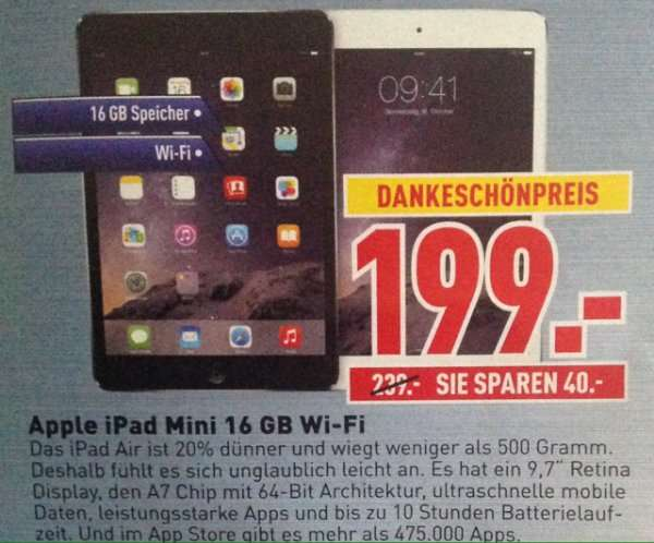 lokal apple ipad mini 16 gb wifi dodenhof posthausen. Black Bedroom Furniture Sets. Home Design Ideas