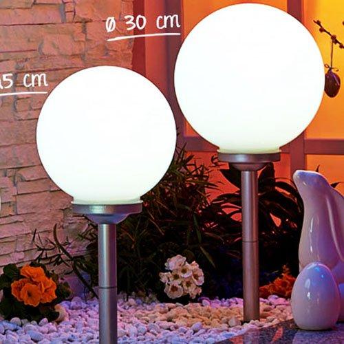 50 sparen led solarkugel mit erdspie f r euren fr hlings garten kodi. Black Bedroom Furniture Sets. Home Design Ideas