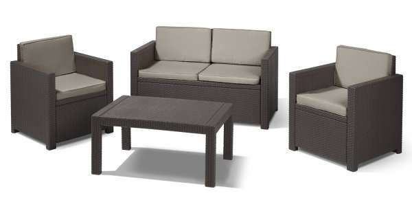 allibert gartenm bel set victoria in rattan optik ab f r 229 norma. Black Bedroom Furniture Sets. Home Design Ideas