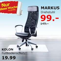 ikea brinkum bremen ikea markus drehstuhl f r 99. Black Bedroom Furniture Sets. Home Design Ideas