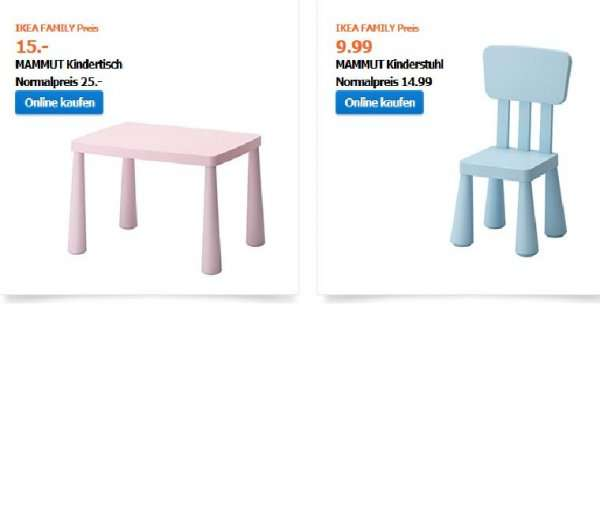 ikea bundesweit mammut kindertisch 15 euro und kinderstuhl 9 99 euro. Black Bedroom Furniture Sets. Home Design Ideas