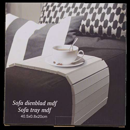 sofa tablett aus mdf in schwarz oder wei f r action lokal. Black Bedroom Furniture Sets. Home Design Ideas