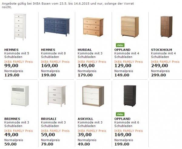 ikea family aktion ab sofort kommoden zum sonderpreis bundesweit. Black Bedroom Furniture Sets. Home Design Ideas