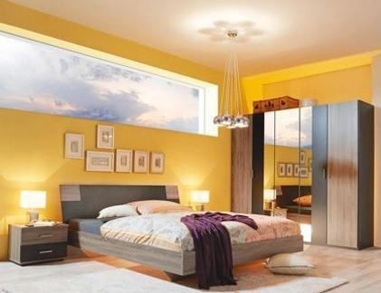 komplett schlafzimmer in eichenfarben f r 279 beim xxxl. Black Bedroom Furniture Sets. Home Design Ideas