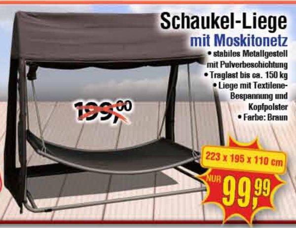 Centershop] UPDATE: Wieder da! Schaukel-Liege mit Moskitonetz 50 ...