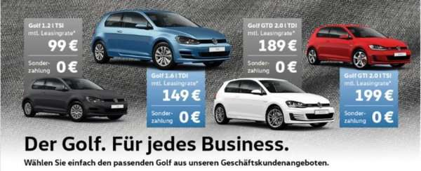 leasing vw golf 36 monate 0 anz 10tkm jahr ab 99. Black Bedroom Furniture Sets. Home Design Ideas