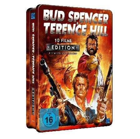 bud spencer terence hill 10 filme sammler metallbox f r 14 98. Black Bedroom Furniture Sets. Home Design Ideas