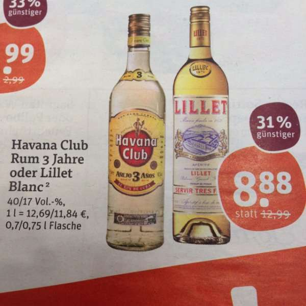 tegut havana club rum 3 jahre oder lillet blanc. Black Bedroom Furniture Sets. Home Design Ideas