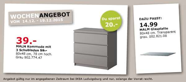 ikea ludwigsburg malm kommode mit 3 schubladen in grau f r 39 normalpreis 59. Black Bedroom Furniture Sets. Home Design Ideas