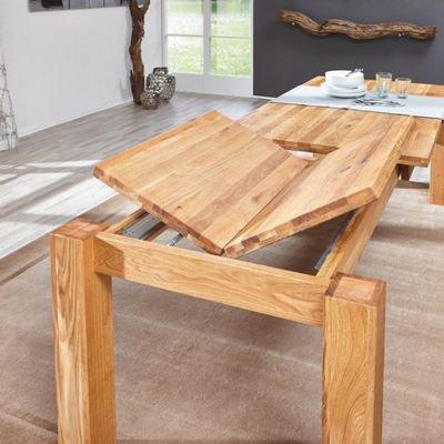 xxxlshop esszimmertisch vollholz wildeiche ausziehbar 2 37m. Black Bedroom Furniture Sets. Home Design Ideas