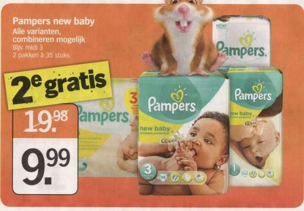50 auf pampers bei a heijn in nl. Black Bedroom Furniture Sets. Home Design Ideas