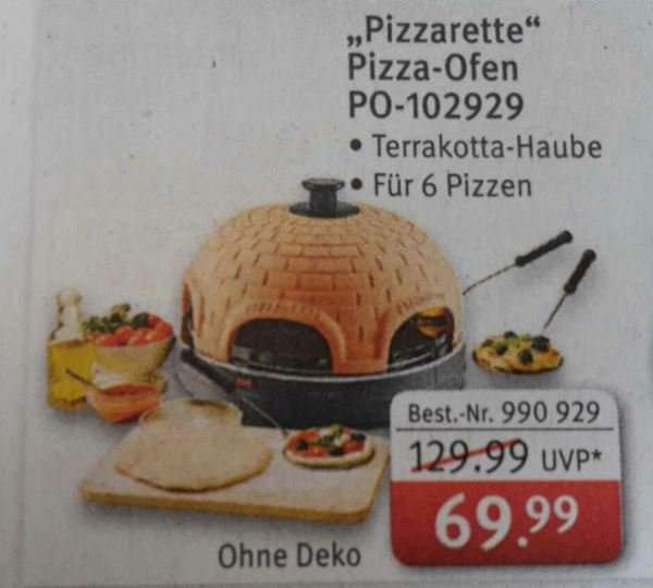 rossmann on offline pizza ofen pizzarette f r 6 personen 69 99. Black Bedroom Furniture Sets. Home Design Ideas