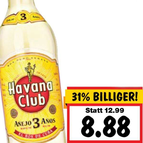 havana club 3 a os 8 88 im kaufland. Black Bedroom Furniture Sets. Home Design Ideas