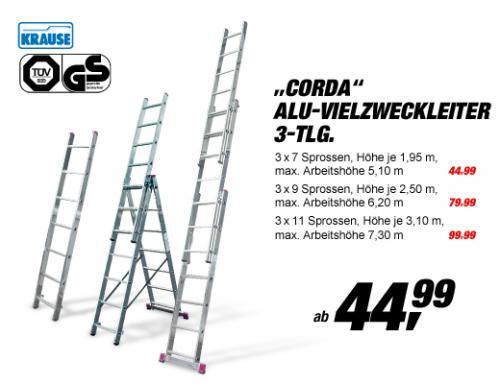 Erstaunlich Alu-Vielzweckleiter Corda (Toom Baumarkt) 3x7, 3x9, 3x11 - mydealz.de FY52