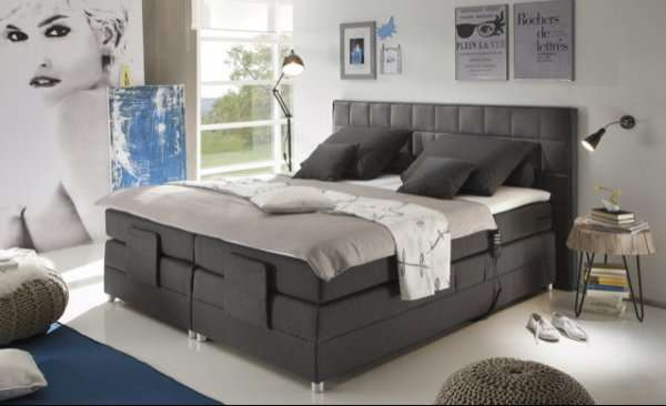 m bel h ffner boxspringbett mit elektr funktion f r 777. Black Bedroom Furniture Sets. Home Design Ideas