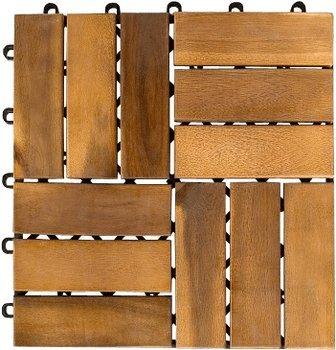 poco 10er paket holzfliese akazie fl che 0 9qm f r 1 99 bei filialabholung bei versand. Black Bedroom Furniture Sets. Home Design Ideas
