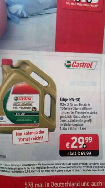 motor l castrol edge 5w 30 fst 29 99 5 liter atu. Black Bedroom Furniture Sets. Home Design Ideas