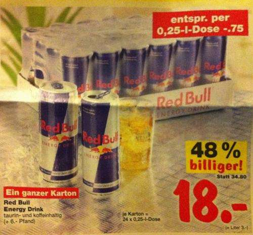 lokal 24 x red bull kaufland neckarsulm und berlin f r 18 euro zzgl pfand. Black Bedroom Furniture Sets. Home Design Ideas