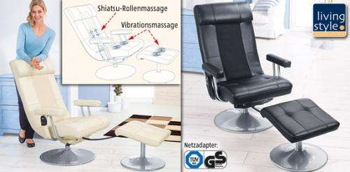 aldi s d living style massagestuhl 169 euro. Black Bedroom Furniture Sets. Home Design Ideas