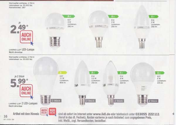 g nstige led lampen bei lidl ab 2 49 mit neonr hren retrofits. Black Bedroom Furniture Sets. Home Design Ideas