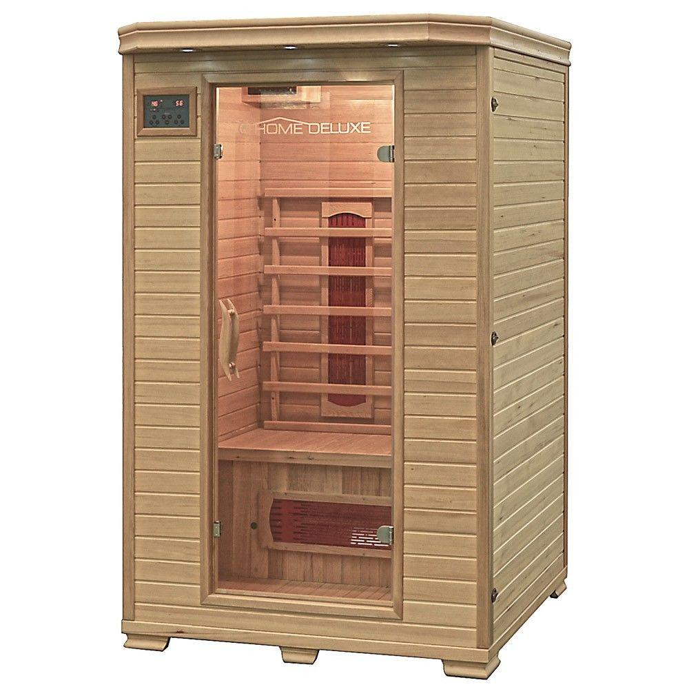 home deluxe infrarotkabine neu infrarotsauna sauna. Black Bedroom Furniture Sets. Home Design Ideas