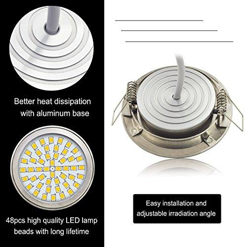 aptoyu led einbaustrahler 4erset ultra flach 3 5w 350 lumen 230v warmwei 17 99 amazon. Black Bedroom Furniture Sets. Home Design Ideas