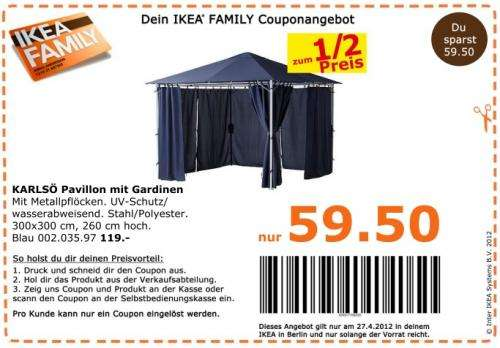 ikea karls pavillon mit gardinen f r 59 50 nur am berlin. Black Bedroom Furniture Sets. Home Design Ideas