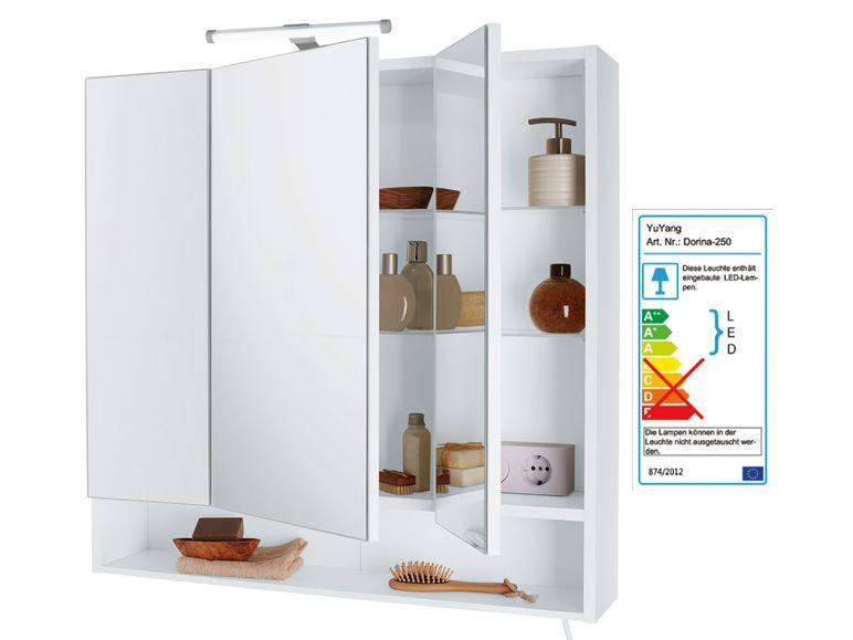 lidl online spiegelschrank f rs badezimmer mit led. Black Bedroom Furniture Sets. Home Design Ideas