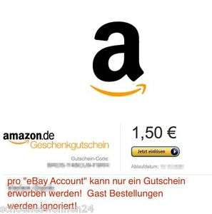 1 50 amazon gutschein f r 1 ebay. Black Bedroom Furniture Sets. Home Design Ideas