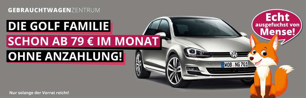 vw golf vii gti performance leasing 0,13% 36 monate ohne anzahlung