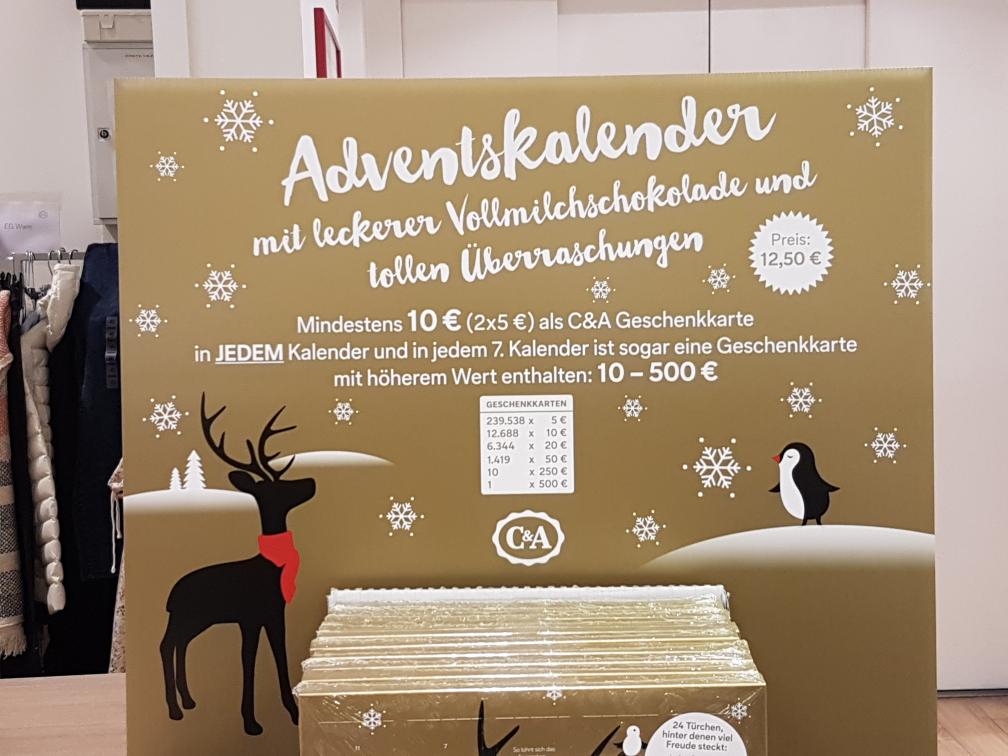 c a adventskalender mit mindestens 10 geschenkkarte. Black Bedroom Furniture Sets. Home Design Ideas