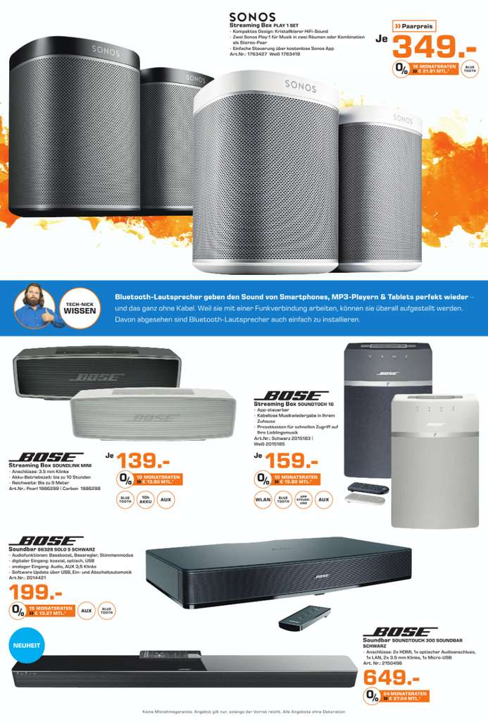 bose soundlink mini 2 139 sonos play 1 349 f r 2. Black Bedroom Furniture Sets. Home Design Ideas