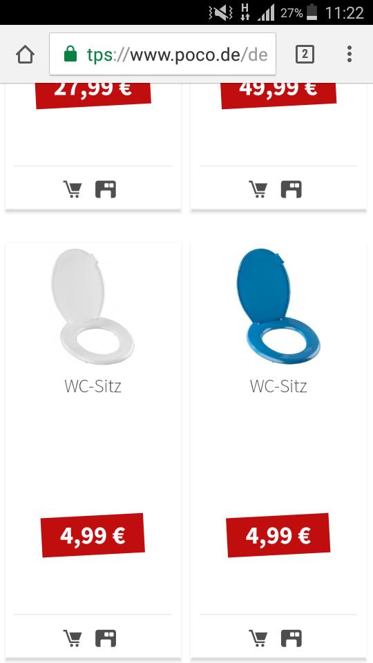 Toilettensitz /Wc-Sitz bei Poco-Domäne - mydealz.de