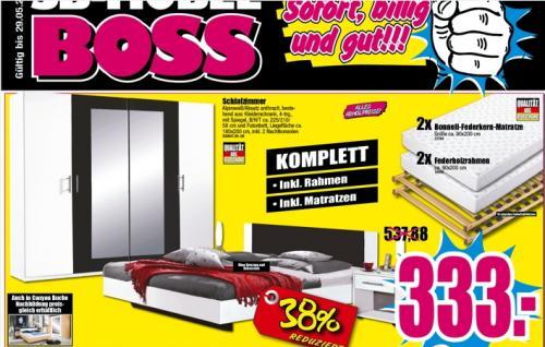 Schlafzimmer komplett Schrank 4-türig ,Bett 180x200, 2 Bonnell ...