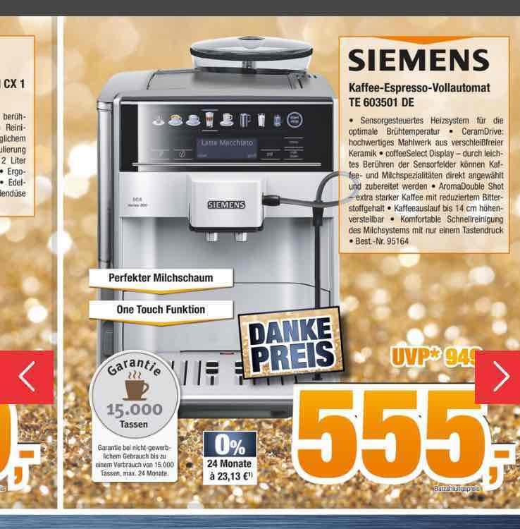 Siemens Te603501de Kaffeevollautomat Eq 6 300 555 Expert Mydealz De